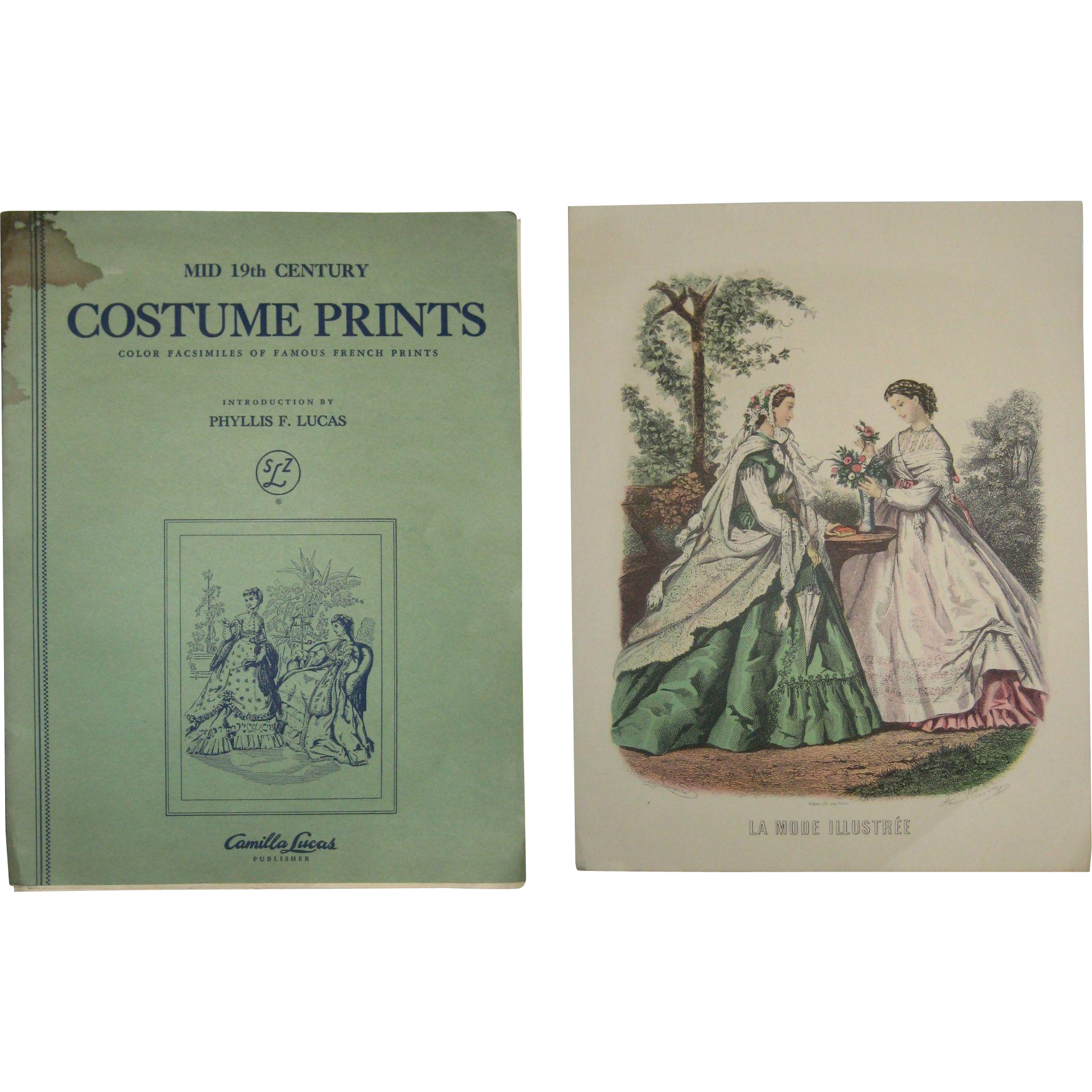 Folio of Eight Mid 19th Century French Costume Prints - Phyllis Lucas 1950