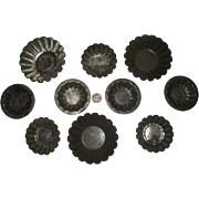 Ten Fluted German Tart Tins from the Early 1900's - 3 Sizes