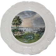 "Currier and Ives Reproductions Americana Series 10"" Plate - Baltimore Taken Near Whetstone Point"