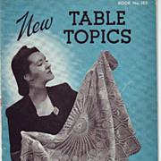 Crochet Tablecloths  Three Booklets 1938 - 1942