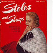 1953 Pattern Booklet Shrugs and Stoles