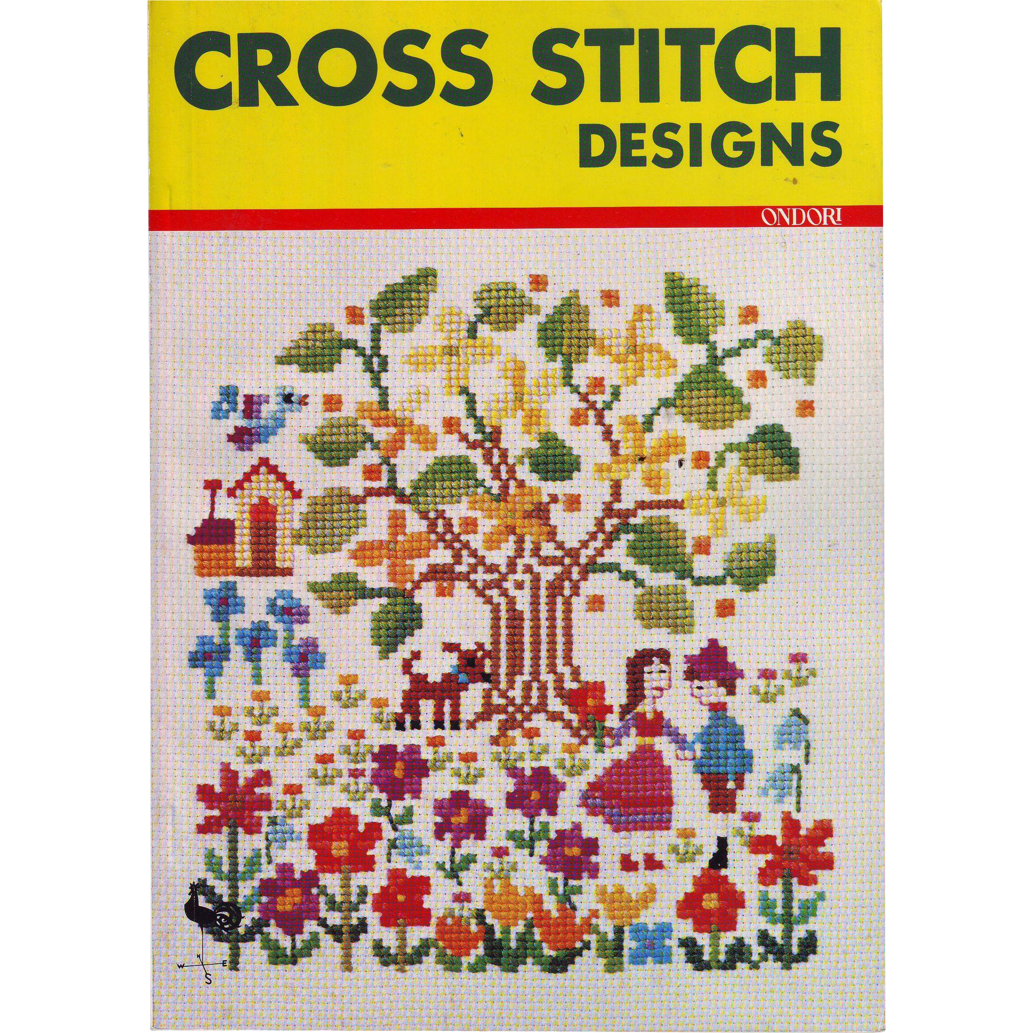 Ondori Book of Cross Stitch Designs - 1975 - Printed in Japan