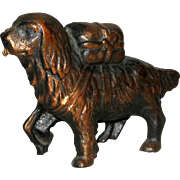 A. C. Williams Cast Iron Newfoundland Dog Bank with Copper Finish