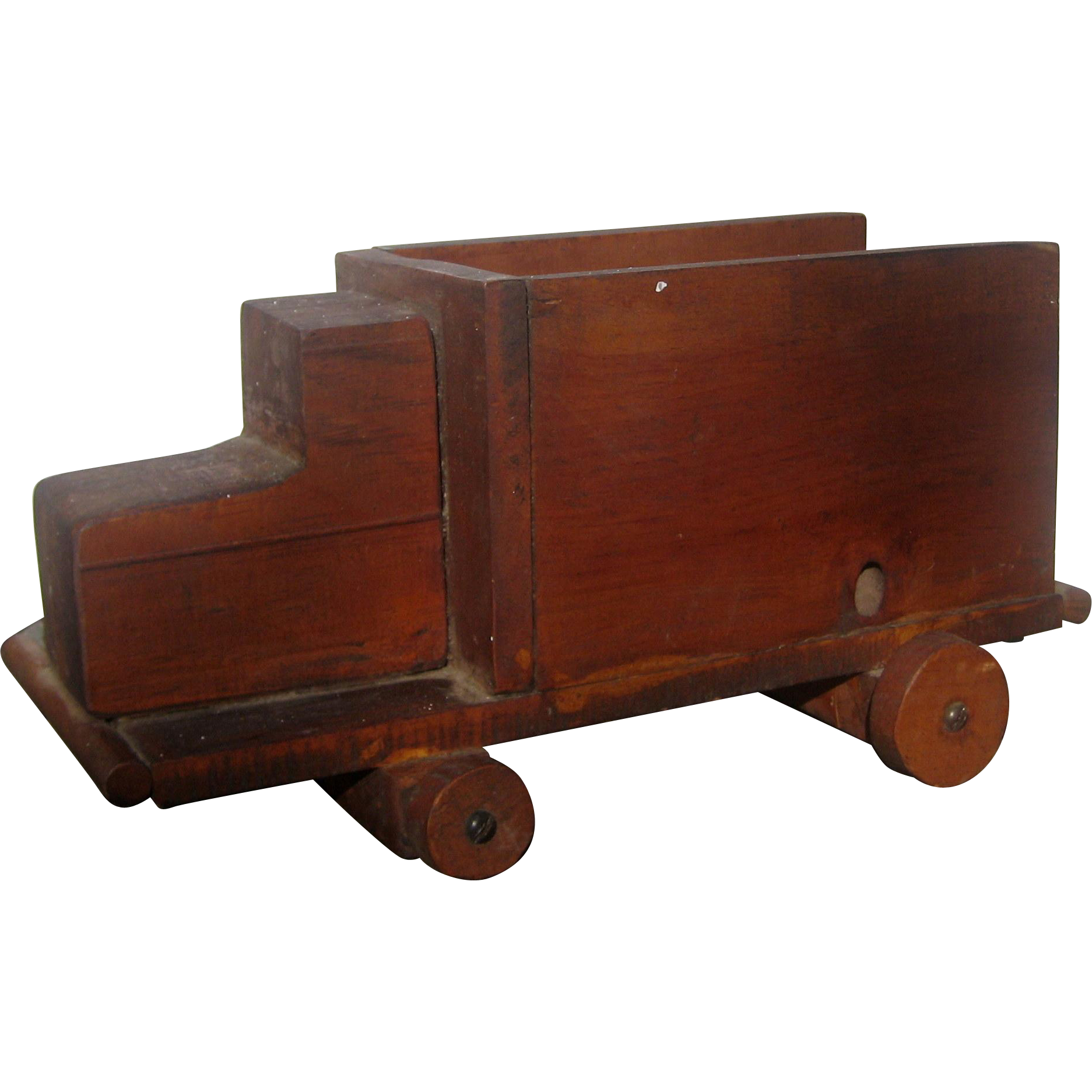 Hand Made Primitive Wooden Toy Truck