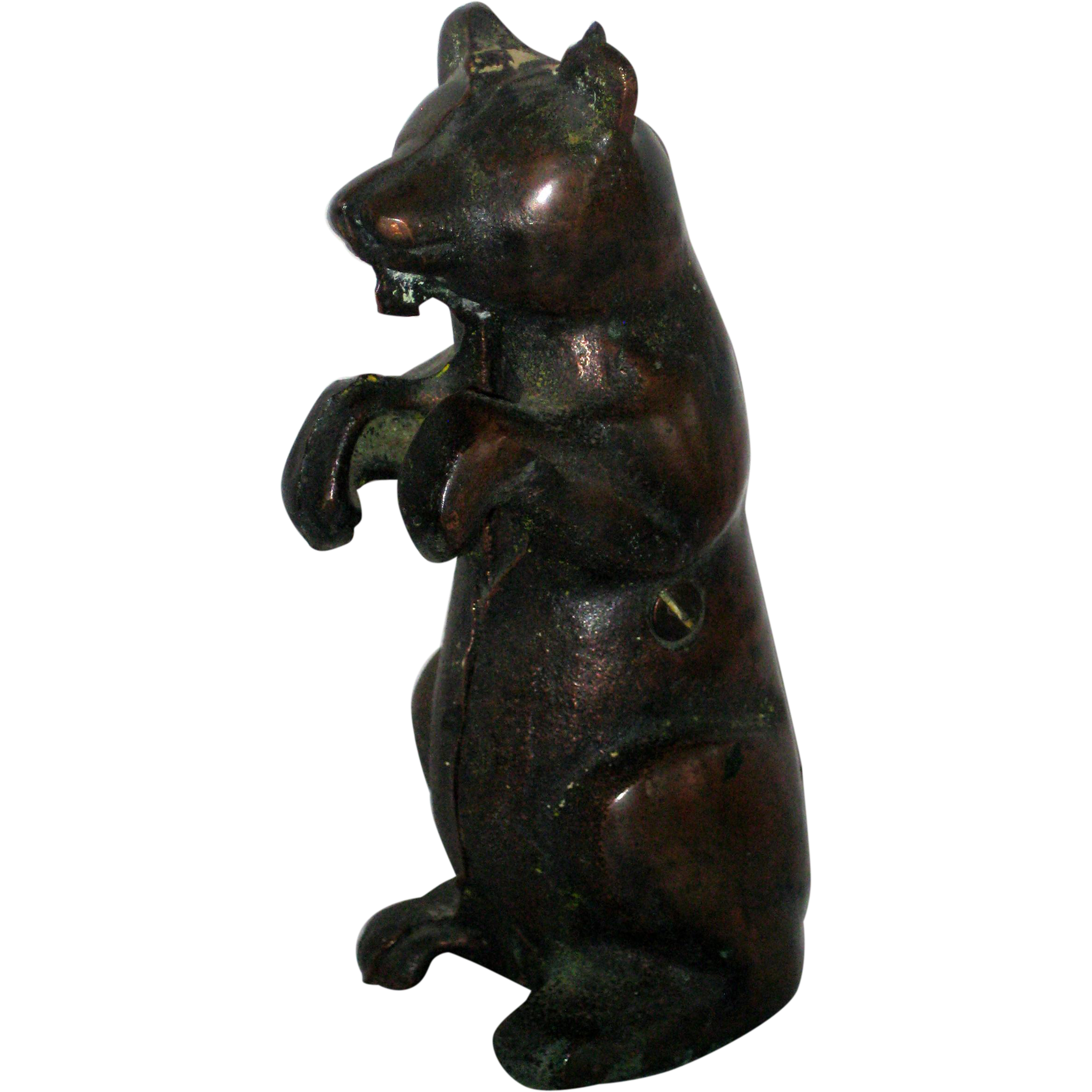 A. C. Williams Cast Iron Standing Bear Still Bank
