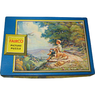 1940's Fairco 350 Piece Picture Puzzle - Boy with Airplane