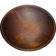 Hand Turned 19th Century Wooden Dough Bowl from Pennsylvania Farmhouse