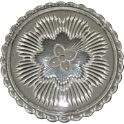 Indiana Glass Starburst Cake Footed Plate