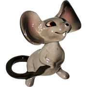 Cute Two Piece Porcelain Mouse Figurine