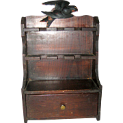 Small Wooden Spoon or Spice Rack with Bird - Circa 1920 - 1930