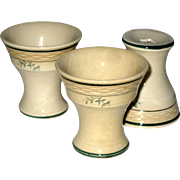 Three Royal Copenhagen Aluminia Faience Egg Cups - 1923 - 1924