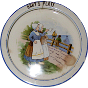 1920's Baby Feeding Dish with Dutch Scene