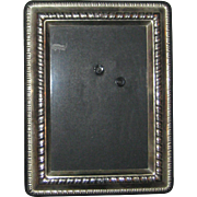 Small Silver Plated Photo Frame with Beveled Glass