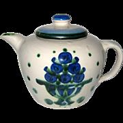 "M. A. Hadley ""Bouquet"" Hand Painted Stoneware Teapot"