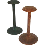 Two 1930's Hat Display Stands