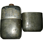 James Dixon and Sons Very Large Pewter Alloy Flask - Sheffield England 1880 - 1990