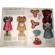 Page with Radial Paper Doll - Jack and Jill Magazine 1958