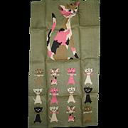 1950's Tammis Keefe Linen Cat Towel - Designed for Fallani and Cohn