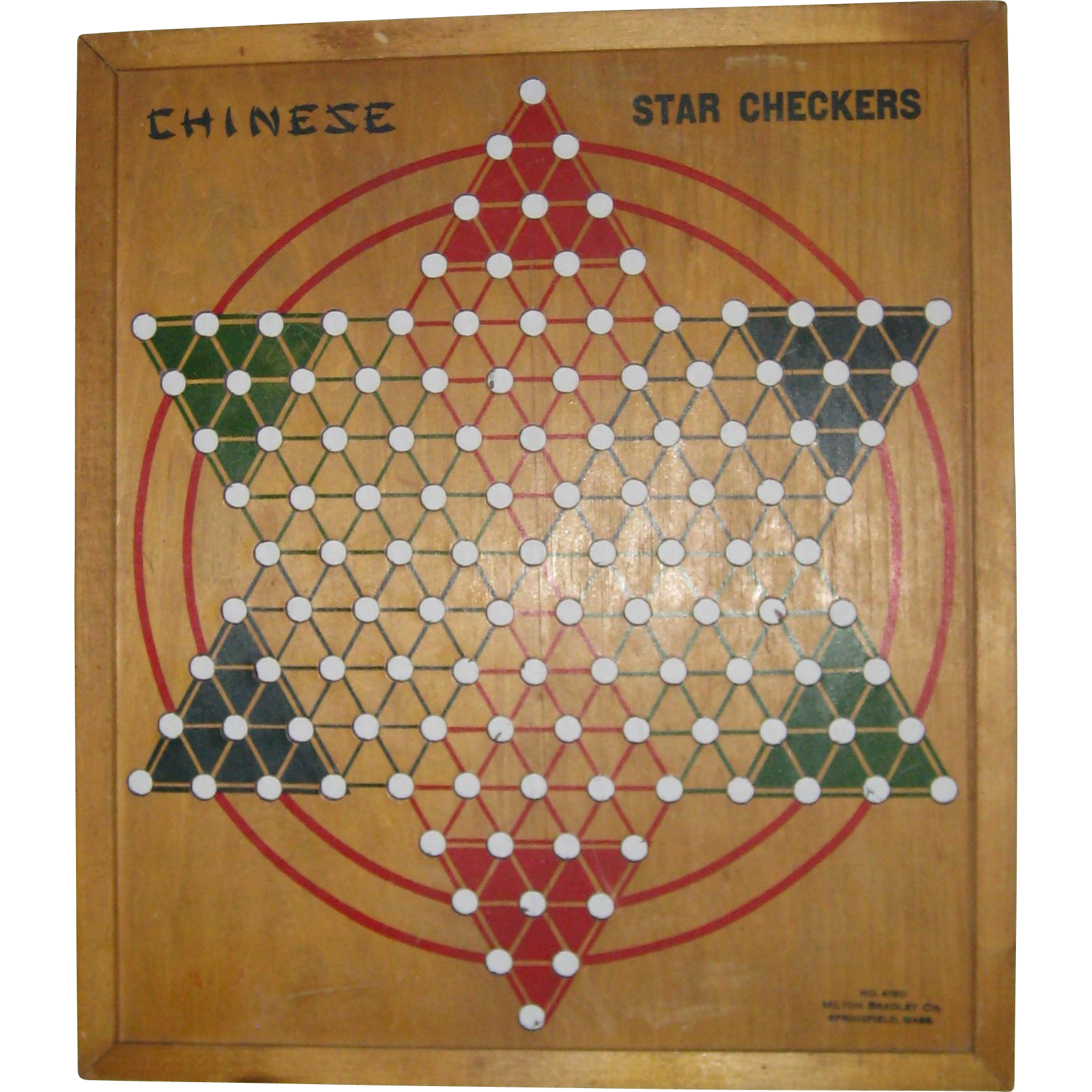 Milton Bradley Chinese Star Checkers Board