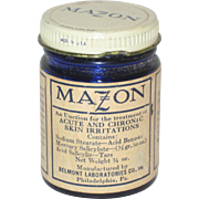 Mazon Cobalt Glass Jar - Medicine Bottle