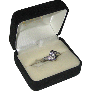 Sterling Silver Ring with .10 Carat Diamond - Size 6