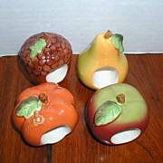Ceramic Napkin Rings:  Apple, Pear, Acorn and Pumpkin