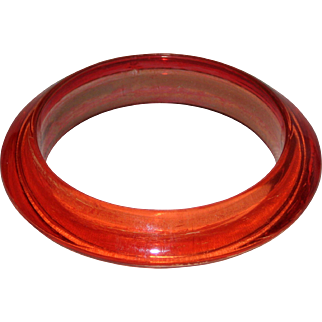 Translucent Orange Bangle - Happy Halloween!