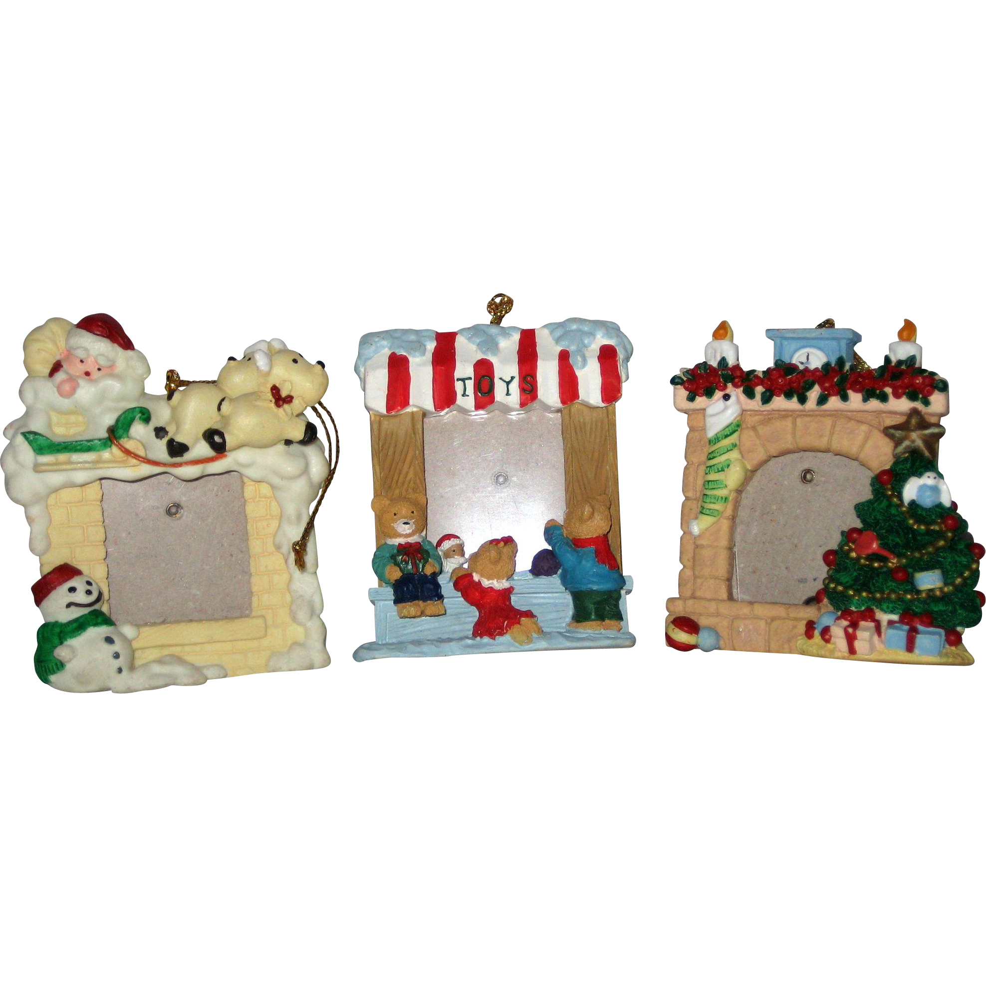 Three Small Holiday Photo Frames for Children's Pictures