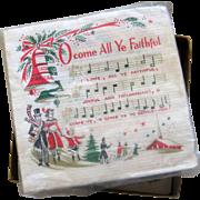 Vintage Box of 36+ Christmas Carol Paper Napkins - 1950's