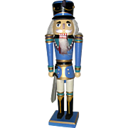 Blue Wooden Nutcracker