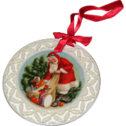 "Lenox Bone China ""Santa's Visit""- Santa's Portrait Series 1989"