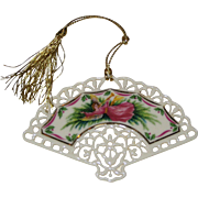 Lenox Porcelain China Victorian Fan Ornament 1991 - Victorian Lace Collection