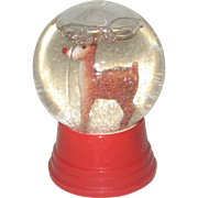 1960's Driss Rudolph the Red-Nosed Reindeer Snow Globe