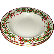 Royal Gallery Queensberry Christmas China Rimmed Soup or Salad - 1991 RH Macy Exclusive