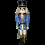 Blue Wooden Nutcracker