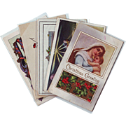 Five Vintage Religious Themed Christmas Postcards 1910 - 1928