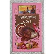 Thanksgiving Postcard with Turkey - circa 1915