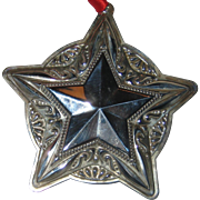 Towle Sterling Silver Christmas Star Ornament 2008