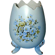 Vintage Inarco, Japan Blue Porcelain Cracked Egg Vase Circa 1960