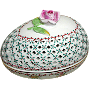 Royal Danube Hand Painted Porcelain Easter Egg Box with Rose