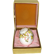 Noritake 1973 Hand Painted Bone China Porcelain Easter Egg - Hen and Chicks