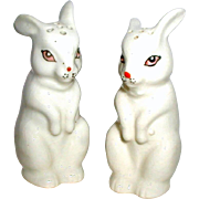 1950's Japan Ceramic Bunny Rabbit Salt and Pepper Shakers