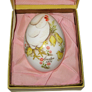 1973 Noritake Bone China Easter Egg - Original Box - Hen and Chicks