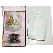 Noritake Bone China Easter Egg 2008 - Original Box and Papers