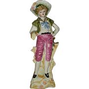 Country Lad Pastoral Bisque Porcelain Figurine