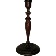Graceful Hand-turned Wooden Candlestick