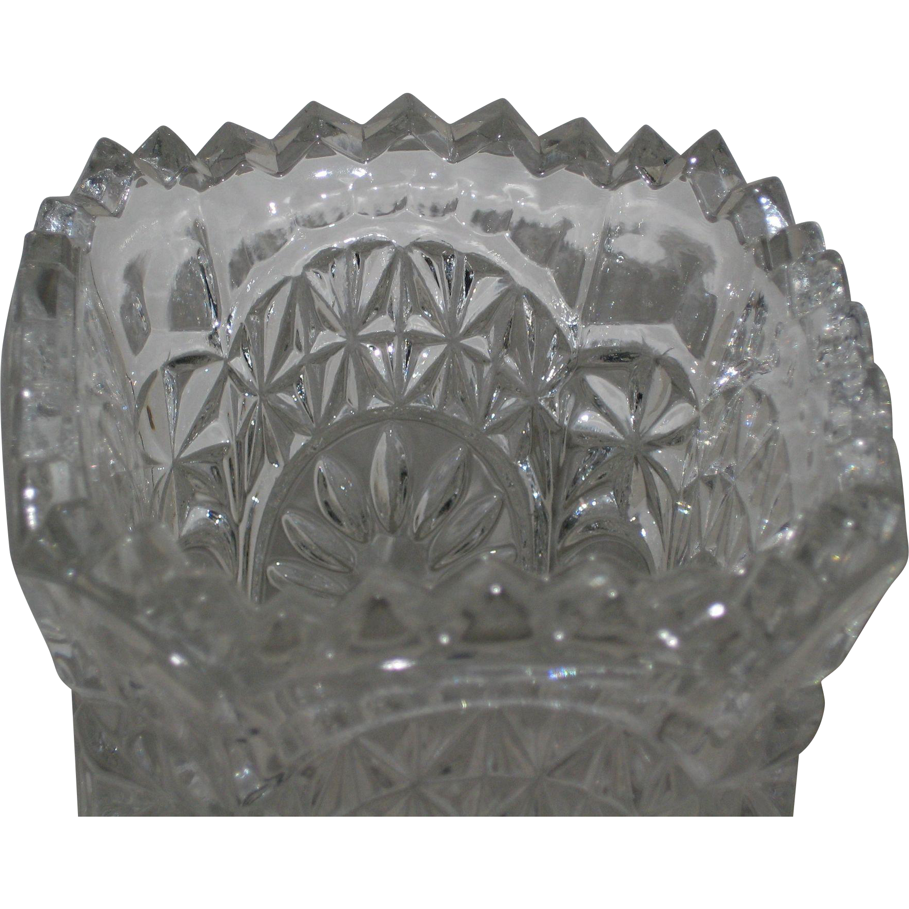 Hofbauer German Crystal Footed Bird Vase