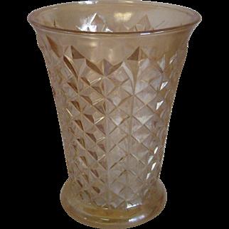 "7"" Vintage Peach Luster Vase"