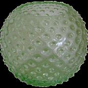 Green Hobnail Globe Vase