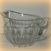 "Heisey Clear Glass ""Narrow Flute"" Creamer"